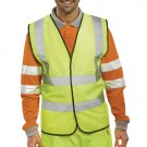 Proforce High Visibility 2-Band Extra Large Yellow Waistcoat HV08YL480