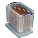 Really Useful Clear 24 Litre Plastic Suspension File Box RUP80256