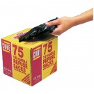 Le Cube Black Tie-Handle Refuse Sack Dispenser Pack Of 75 Black 0481 - Bin Bags