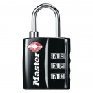 Master Lock 32mm TSA Combination Padlock Black 40054