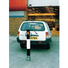 VFM Black /White Heavy Duty Removable Steel Bollard Large 319860