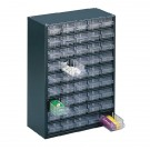 Clear 45 Drawer System Dark Grey Storage Cabinet 324193