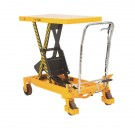 Yellow and Black Mobile Lifting Table 500kg Capacity 329458