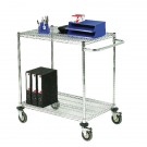 2-Tier Chrome Mobile Trolley 372997