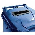 Confidential Waste Wheelie Bin 360 Litre Blue 377893