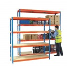 Heavy Duty Painted Additional Shelf 1800x450mm Orange/Zinc 378856