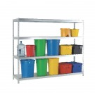 Heavy Duty Galvanised Additional Shelf 1800x450mm Orange/Zinc 378876