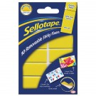 Sellotape Removable Sticky Fixers Pack Of 10 20x40mm SE04420 - Adhesive Strips