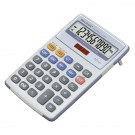 Sharp White and Grey 10-Digit Semi-Desktop Calculator EL334FB