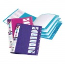 Snopake Assorted 8-Part Elasticated Electra Files 14965 - Folder File