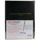 Identibadge Contractor Book With 100 Inserts / 10 Pockets / 10 Contractor Lanyards IBSSC5