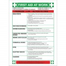Safety Sign First Aid At Work WC61 - Health Safety Poster