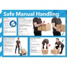 General Safe Manual Handling Sign 420 x 590mm WC245 - Health Safety Poster