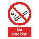 No Smoking A5 PVC Safety Sign ML02051R - No Smoking Signs