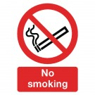 No Smoking A4 PVC Safety Sign ML02079R - No Smoking Signs