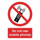 Do Not Use Mobile Phones A5 Self-Adhesive Safety Sign PH01051S - Office Warning Signs