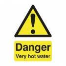 Danger Very Hot Water 75 x 50mm Self-Adhesive Safety Sign HA17343S - Workplace Danger Signs