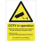 CCTV Data Protection Act-Complaint A5 Self-Adhesive Warning Sign DPACCTVS - CCTV Surveillance Signs