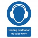 Hearing Protection Must Be Worn A4 PVC Safety Sign MA01950R - Safety Signs Workplace