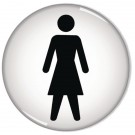 Women Symbol General Domed 60mm Sign RDS1 - Male Female Toilet Signs