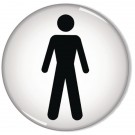 Men Symbol General Domed 60mm Sign RDS2 - Male Female Toilet Signs