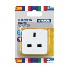 Status European Travel Adaptor Plug (Pack of 12) SEUROAB112