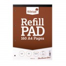 Silvine Refill Pad A4 Punched 4-Hole Head Bound 80 Leaf Ruled Feint A4RPF