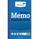 Silvine Carbonless Memo Duplicate Book 8.3x5 Inches NCR 701-T
