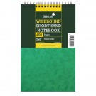 Silvine 200 Leaf Ruled Feint Spiral Bound Shorthand Notebook 5 x 8 Inches 441-T