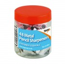 Metal Single Hole Pencil Sharpeners (Pack of 48) 301803