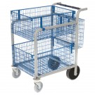 GoSecure Large Mail Trolley (2 x Wire Baskets) MT3