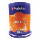 Verbatim DVD-R 16x Non-Printable Spindle (Pack of 100) 43549