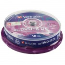 Verbatim DVD+R 8X Double Layer Non-Printable Spindle (Pack of 10) 43666