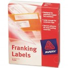 Avery Franking Label For Auto Hopper 140 x 38mm White 1 Per Sheet FL04