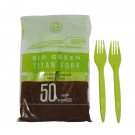 Heavy Duty Full Size Biodegradable Plastic Forks. Pack of 50, outer of 20 x 50.