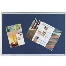 Q-Connect Aluminium Frame Blue Notice Board 1800 x 1200mm