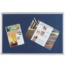 Q-Connect Aluminium Frame Blue Notice Board 900 x 600mm KF01076