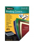 Fellowes Binding Covers 250gsm A4 White Gloss Ref 5378004 [Pack 100]