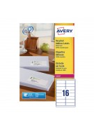 Avery Recycled Laser Label White Address 99.1X33.9Mm 16 Per Sheet Lr7162-100