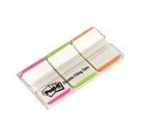 3M Post-it 1 Inch Green/Pink/Orange Strong Index Tabs 686L-PGO - File Folders Tabs