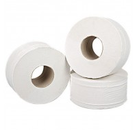 2Work 2-Ply White Mini Jumbo Roll 92mm x 200 Metres - Toilet Paper