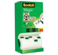 3M Pack Of 12 Scotch Magic Tape 19mm x 33Metres (With 2 Rolls FOC) ROLLS/2 FOC