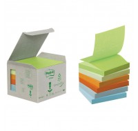 3M Canary Yellow Recycled Z-Note Post-It Notes 76 x 76mm R330-1B