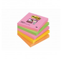 3M Neon Rainbow Super Sticky Post-It Notes 76 x 76mm 654-SN