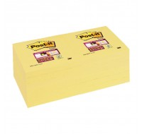 3M Canary Yellow Super Sticky Post-It Notes 76 x 76mm 654-12SSCY
