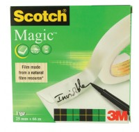 3M Scotch 810 Magic Tape 25mm x 66 Metres 8102566