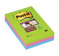3M Super Sticky Ruled Post-It Notes 102 x 152mm 660-3SSUC