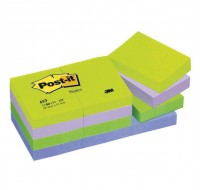 3M Post-it Dreamy Rainbow Colour Notes 38x51mm 653MT - Sticky Pads & Post-Its