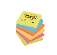 3M Post-it Energetic Rainbow Colour Notes 76x76mm 654TF