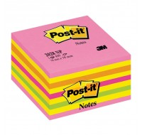3M Post-it Neon Cube 76x76mm 2028NP